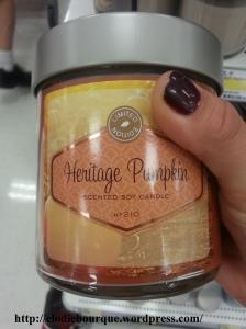 Bougie au soya- Heritage Pumpkin